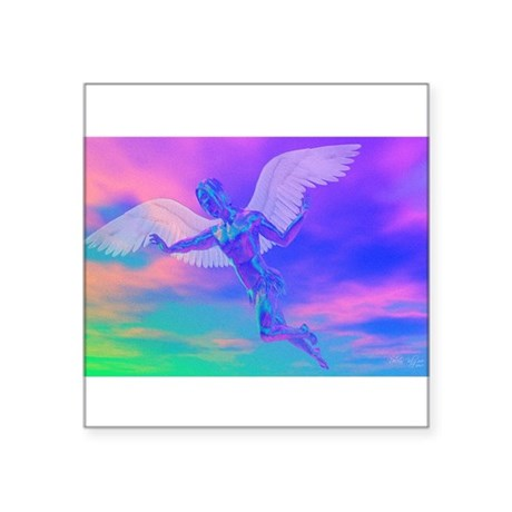 "angelc.png Square Sticker 3"" x 3"""
