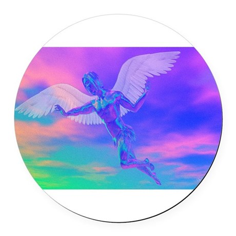 angelc.png Round Car Magnet
