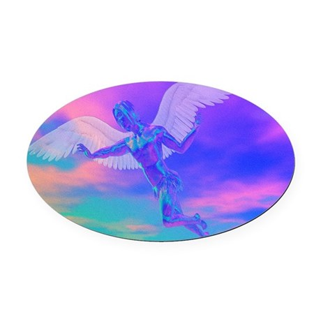 angelc.png Oval Car Magnet