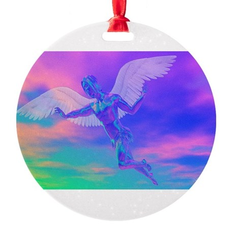 angelc.png Round Ornament