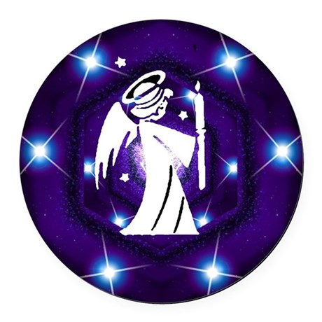 angel.png Round Car Magnet
