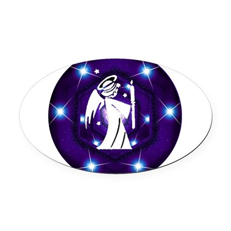 angel.png Oval Car Magnet