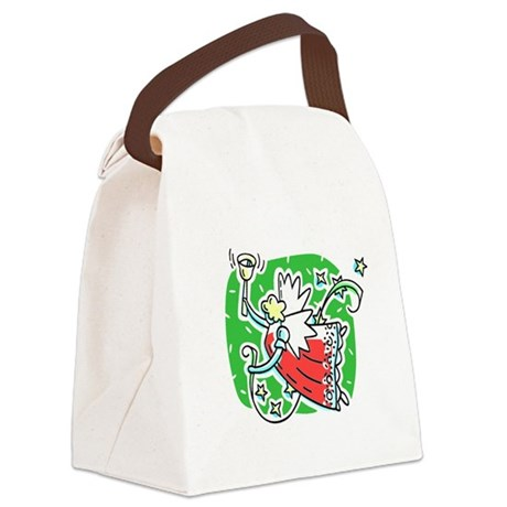 angel6b.png Canvas Lunch Bag