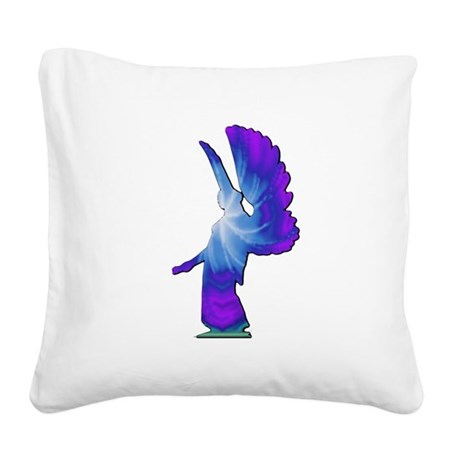 angel4b.png Square Canvas Pillow