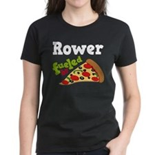 Rower Fueled By Pizza Tee