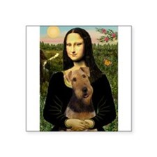 """5.5x7.5-Mona-Airedale1.png Square Sticker 3"""" x 3"""""""