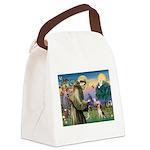 Saint Francis / Beagle Canvas Lunch Bag