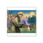 Saint Francis / Beagle Square Sticker 3