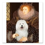 5.5x7.5-Queen-Bolognese.png Square Car Magnet 3