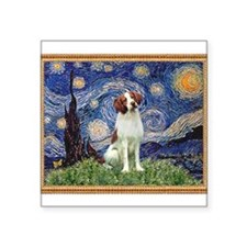"Starry Night/Brittany Square Sticker 3"" x 3"""