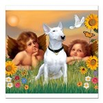 Cherubs / Bull Terrier Square Car Magnet 3