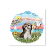 "AngelStar-ShihTzu2.png Square Sticker 3"" x 3"""