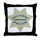Las Vegas Policeman Throw Pillow