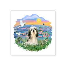 """Sunrise Lilies - Shih tzu 3.png Square Sticker 3"""""""