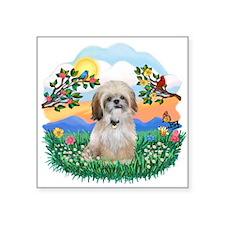 """BirghtLife-ShihTzu17r.png Square Sticker 3"""" x 3"""""""