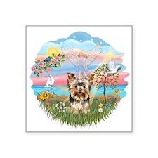 "Angel Star - Yorkie 17.png Square Sticker 3"" x 3"""