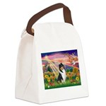 Autumn Angel/Collie Canvas Lunch Bag
