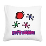 Lets Bounce Jacks Jax.png Square Canvas Pillow