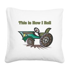 farm tractor.png Square Canvas Pillow