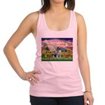Autumn Angel/Keeshond Racerback Tank Top