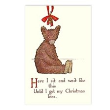 Christmas Bear Postcards (Package of 8)