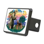 St Francis #2/ Airedale Rectangular Hitch Cover