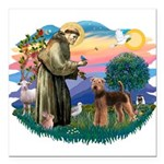 St Francis #2/ Airedale Square Car Magnet 3
