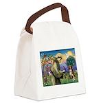 St Francis/ Aus Shep Canvas Lunch Bag