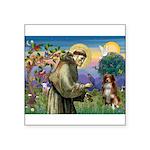 St Francis/ Aus Shep Square Sticker 3