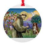 St Francis/ Aus Shep Round Ornament