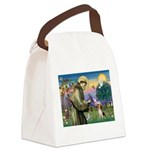 St Francis/Beagle Canvas Lunch Bag