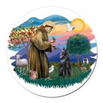 St Francis #2/ B Shepherd Round Car Magnet