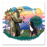 St Francis #2/ BMD Square Car Magnet 3