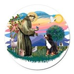 St Francis #2/ BMD Round Car Magnet