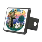 St Francis #2/ Bichon (2) Rectangular Hitch Cover
