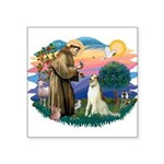 St Francis #2/ Borzoi Square Sticker 3