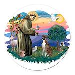 St.Francis #2/ Boxer (nat ea Round Car Magnet