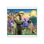 St Francis / Bullmastiff Square Sticker 3