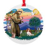 St.Francis #2/ Cavalier (bl) Round Ornament