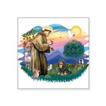 St.Francis #2/Cavalier (BT) Square Sticker 3&quot;