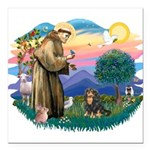 St.Francis #2/Cavalier (BT) Square Car Magnet 3&qu