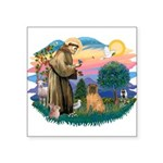 St.Francis #2/ Shar Pei (#3) Square Sticker 3&quot