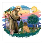 St.Francis #2/ Shar Pei (#3) Square Car Magnet 3&q