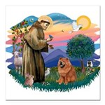 St Francis #2/ Chow (R) Square Car Magnet 3