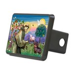 St Francis Doxie Rectangular Hitch Cover