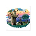St.Francis #2/ Dobie (cropped Square Sticker 3&quo