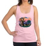 St.Francis #2/ Dobie (cropped Racerback Tank Top