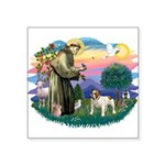 St.Fran #2/ English Bulldog Square Sticker 3""