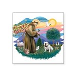 St.Francis #2/ Eng Bull (W #1 Square Sticker 3&quo