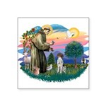 "St.Francis #2/ GSHP Square Sticker 3"" x 3&quo"